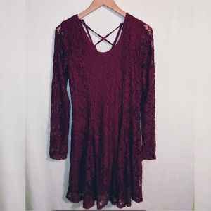 American Eagle Red Lace Dress Sz XXL NWT